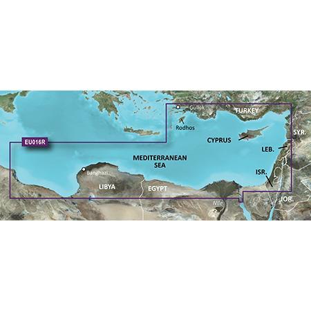 Карта Garmin BlueChart g3 Vision на Югоизточното Средиземноморие