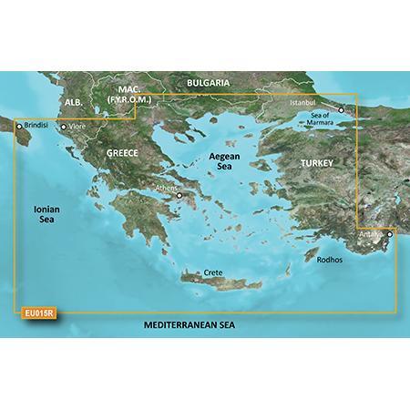 Карта Garmin BlueChart g3 Vision за Егейско и Мраморно море