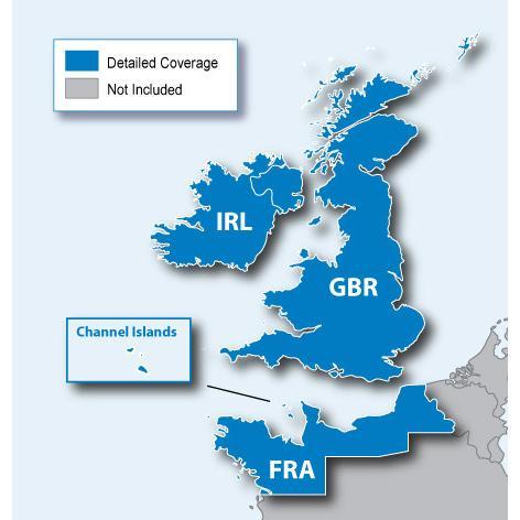 Навигационна карта Garmin City Navigator® Europe NT – Великобритания/Ирландия