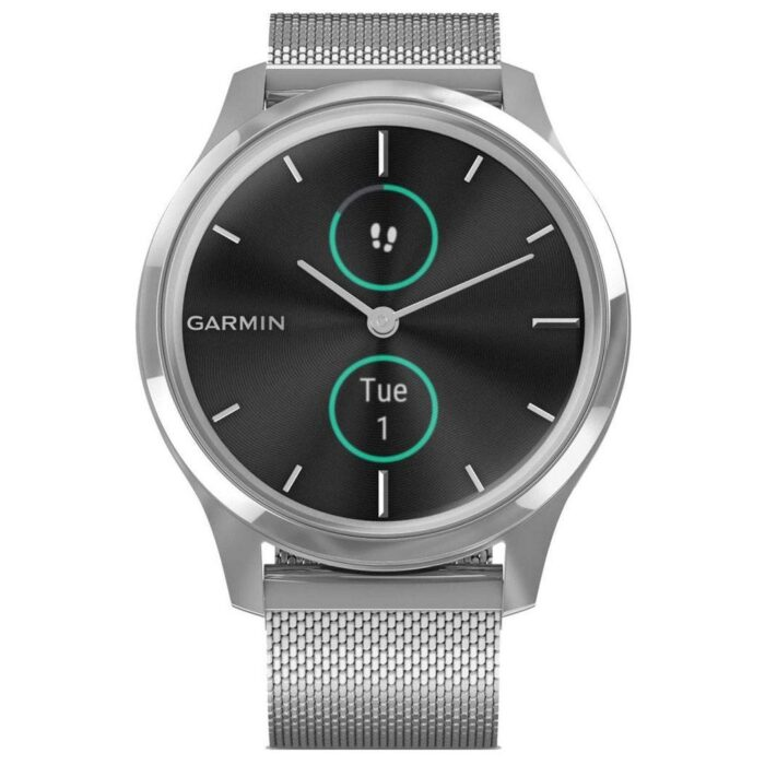 Хибриден смарт часовник GARMIN Vívomove Luxе Milanese/Silver