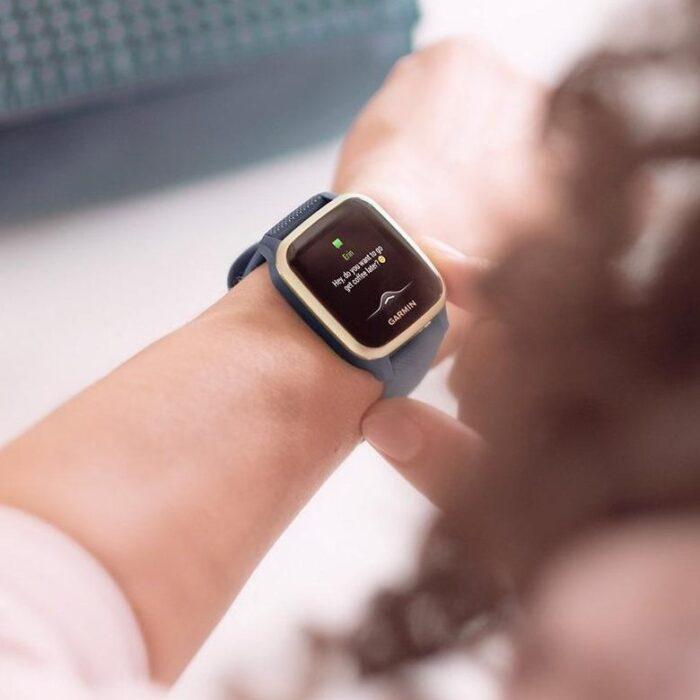 Смарт часовник GARMIN Venu SQ Music Navy/Light Gold Bezel