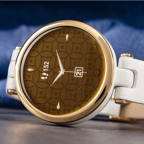 Часовник GARMIN Lily Classic Light Gold/White