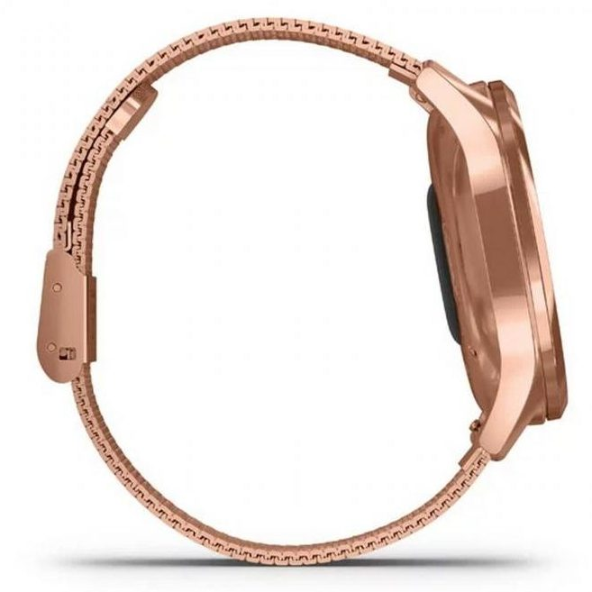 Хибриден смарт часовник GARMIN Vívomove Luxе Milanese/18K Rose Gold