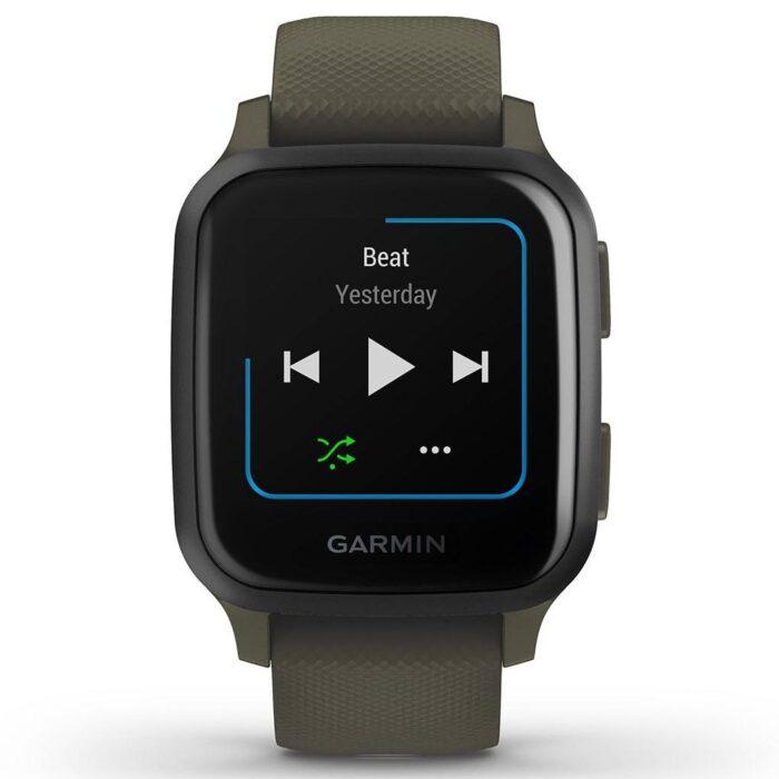 Смарт часовник GARMIN Venu SQ Music Slate Aluminum/Moss Case