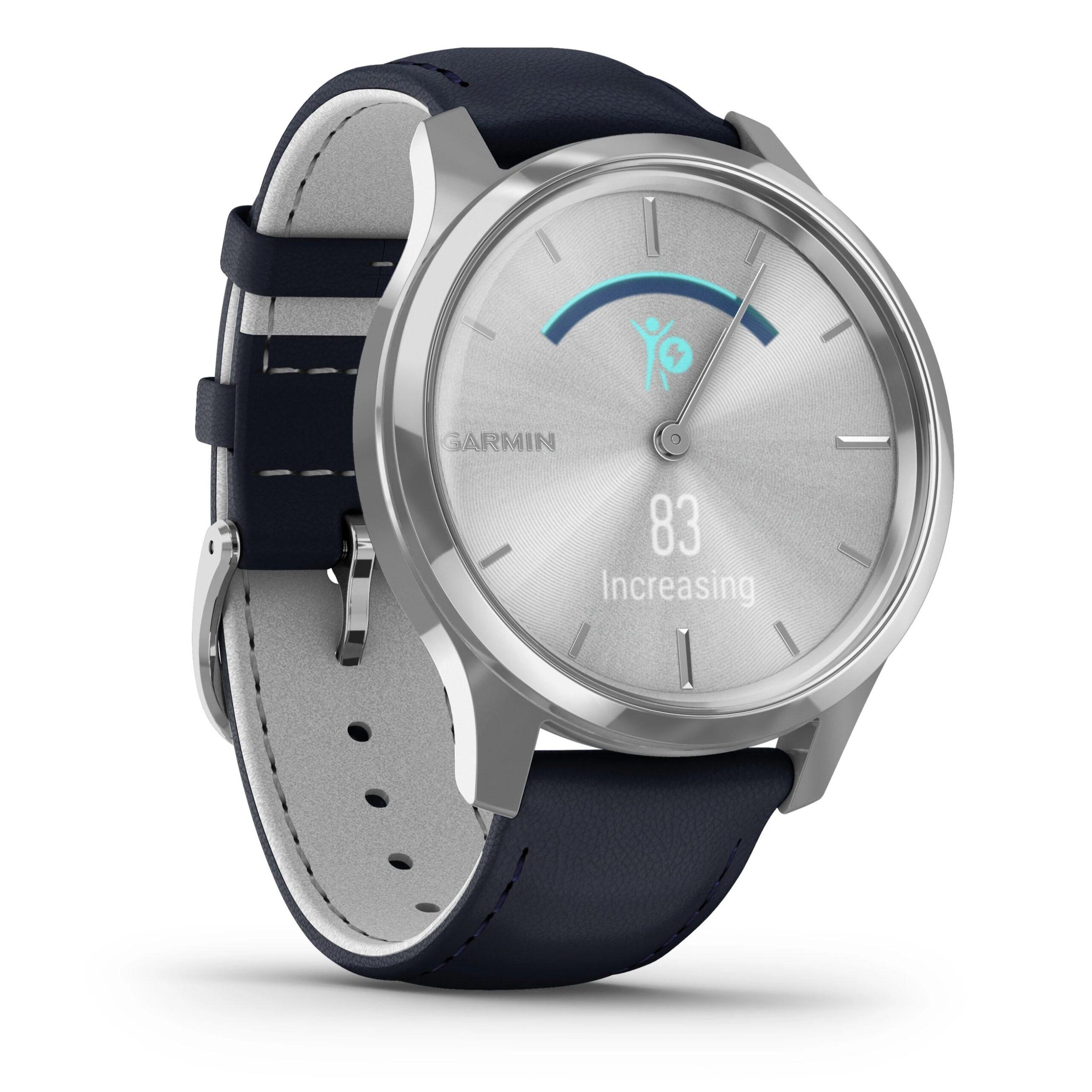 Хибриден смарт часовник GARMIN Vívomove Luxe Navy/Silver