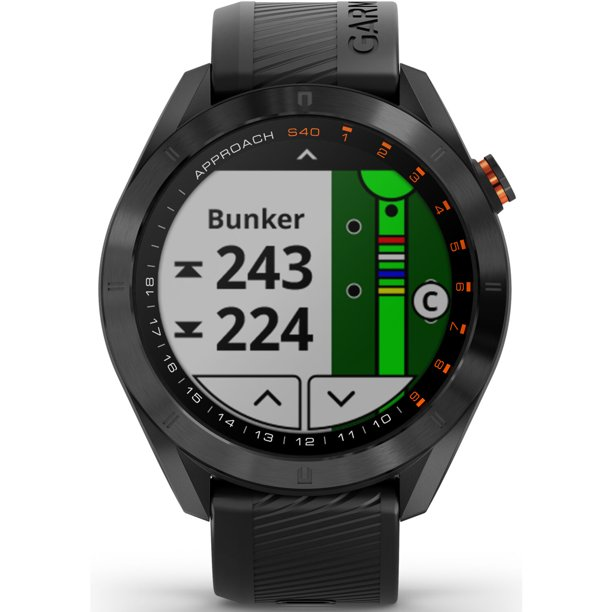 Часовник с GPS за голф GARMIN Approach S40 Black