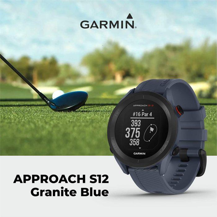 Часовник с GPS за голф GARMIN Approach S12 Granite Blue