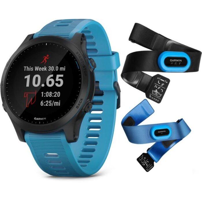 Часовник Garmin Forerunner 945 Blue, bundle
