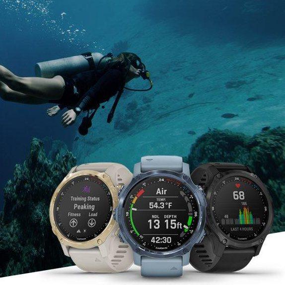 Смарт часовник Descent Mk2S Mineral Blue/Sea Foam