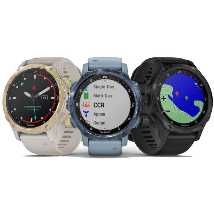 Смарт часовник Descent Mk2S Carbon Gray DLC/Black
