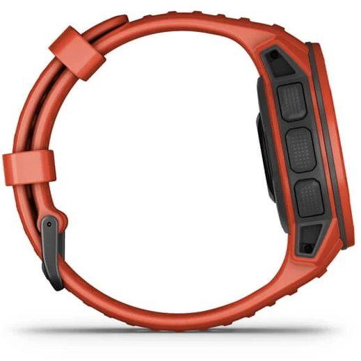 Смарт часовник Garmin – Instinct Solar, Flame Red