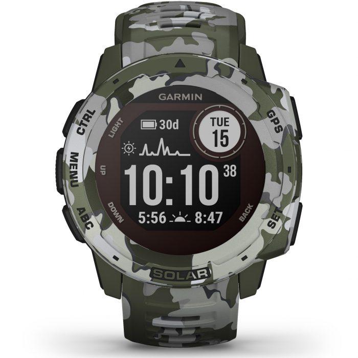Смарт часовник Garmin – Instinct Solar, Lichen Camo